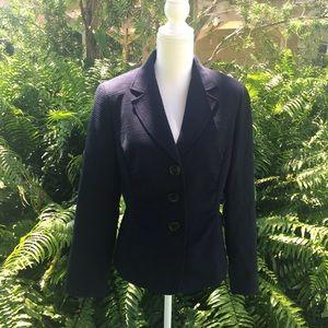 LAFAYETTE 148 Blue Jacket Cotton Blend Womens L 10